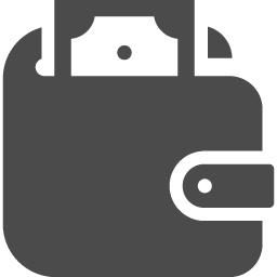 お札が見えるお財布アイコン1 アイコン素材ダウンロードサイト Icooon Mono 商用利用可能なアイコン素材が無料 フリー ダウンロードできるサイト