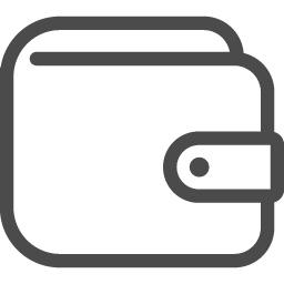 シンプルな財布の線画アイコン アイコン素材ダウンロードサイト Icooon Mono 商用利用可能なアイコン 素材が無料 フリー ダウンロードできるサイト