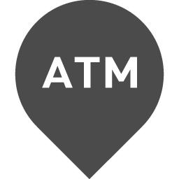 地図マーカー風のatmアイコン6 アイコン素材ダウンロードサイト Icooon Mono 商用利用可能なアイコン 素材が無料 フリー ダウンロードできるサイト