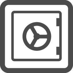 耐火金庫の無料アイコン アイコン素材ダウンロードサイト Icooon Mono 商用利用可能なアイコン素材が無料 フリー ダウンロードできるサイト