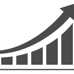 指数関数的にアップするグラフのアイコン アイコン素材ダウンロードサイト Icooon Mono 商用利用可能なアイコン素材が無料 フリー ダウンロードできるサイト