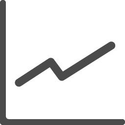 緩やかな右肩上がりのグラフアイコン アイコン素材ダウンロードサイト Icooon Mono 商用利用可能なアイコン素材が無料 フリー ダウンロードできるサイト