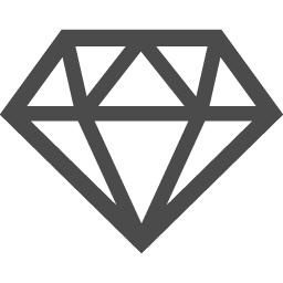 シンプルなダイヤモンドのアイコン アイコン素材ダウンロードサイト Icooon Mono 商用利用可能なアイコン 素材が無料 フリー ダウンロードできるサイト
