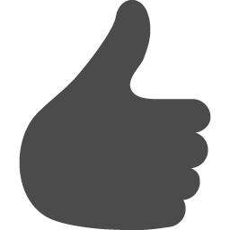 シンプルな いいね の手のアイコン アイコン素材ダウンロードサイト Icooon Mono 商用利用可能なアイコン素材 が無料 フリー ダウンロードできるサイト