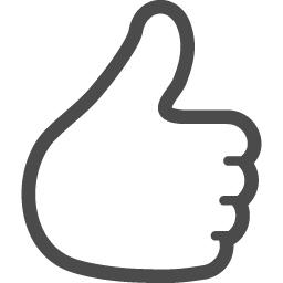 シンプルな いいね の手の線画アイコン アイコン素材ダウンロードサイト Icooon Mono 商用利用可能なアイコン素材が無料 フリー ダウンロードできるサイト