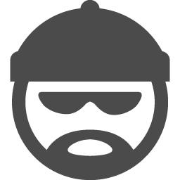 泥棒の顔のアイコンその一 アイコン素材ダウンロードサイト Icooon Mono 商用利用可能なアイコン素材が無料 フリー ダウンロードできるサイト