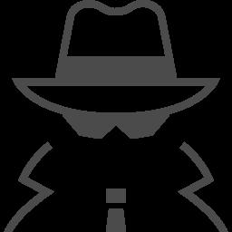 探偵のアイコン アイコン素材ダウンロードサイト Icooon Mono 商用利用可能なアイコン素材が無料 フリー ダウンロードできるサイト