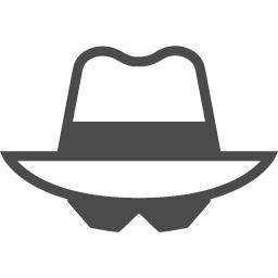 探偵の顔アイコン アイコン素材ダウンロードサイト Icooon Mono 商用利用可能なアイコン素材が無料 フリー ダウンロードできるサイト