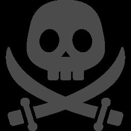 海賊のシンボルマーク アイコン素材ダウンロードサイト Icooon Mono 商用利用可能なアイコン素材が無料 フリー ダウンロードできるサイト