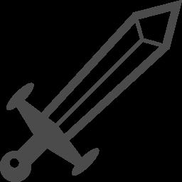 剣のアイコン アイコン素材ダウンロードサイト Icooon Mono 商用利用可能なアイコン素材が無料 フリー ダウンロードできるサイト