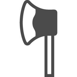 斧のアイコン アイコン素材ダウンロードサイト Icooon Mono 商用利用可能なアイコン素材が無料 フリー ダウンロードできるサイト