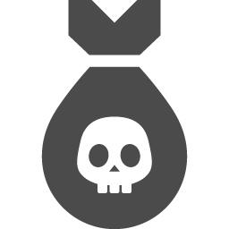 ドクロな爆弾アイコン アイコン素材ダウンロードサイト Icooon Mono 商用利用可能なアイコン素材が無料 フリー ダウンロードできるサイト