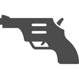 拳銃のアイコンその1 アイコン素材ダウンロードサイト Icooon Mono 商用利用可能なアイコン素材が無料 フリー ダウンロードできるサイト