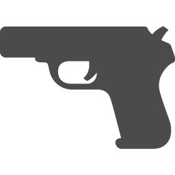 拳銃のアイコンその2 アイコン素材ダウンロードサイト Icooon Mono 商用利用可能なアイコン素材が無料 フリー ダウンロードできるサイト