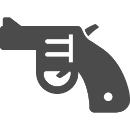 拳銃のアイコンその6 アイコン素材ダウンロードサイト Icooon Mono 商用利用可能なアイコン素材が無料 フリー ダウンロードできるサイト