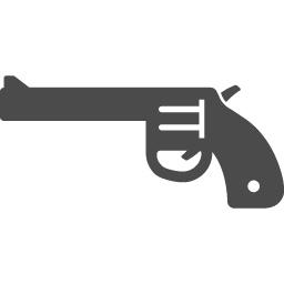 拳銃のアイコンその7 アイコン素材ダウンロードサイト Icooon Mono 商用利用可能なアイコン素材が無料 フリー ダウンロードできるサイト