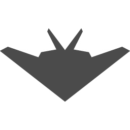 ステルス戦闘機のアイコン1 アイコン素材ダウンロードサイト Icooon Mono 商用利用可能なアイコン素材が無料 フリー ダウンロードできるサイト