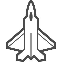 戦闘機の線画アイコン アイコン素材ダウンロードサイト Icooon Mono 商用利用可能なアイコン 素材が無料 フリー ダウンロードできるサイト