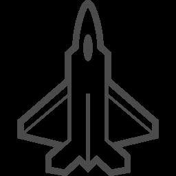 戦闘機の線画アイコン アイコン素材ダウンロードサイト Icooon Mono 商用利用可能なアイコン素材が無料 フリー ダウンロードできるサイト