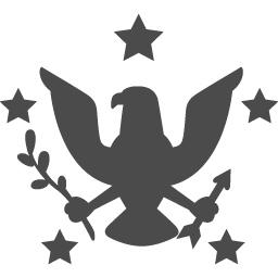 アメリカの紋章のアイコン アイコン素材ダウンロードサイト Icooon Mono 商用利用可能なアイコン素材 が無料 フリー ダウンロードできるサイト