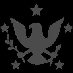 アメリカの紋章のアイコン アイコン素材ダウンロードサイト Icooon Mono 商用利用可能なアイコン 素材が無料 フリー ダウンロードできるサイト