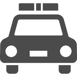 パトカーの無料アイコン1 アイコン素材ダウンロードサイト Icooon Mono 商用利用可能なアイコン素材が無料 フリー ダウンロードできるサイト