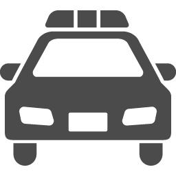 パトカーの無料アイコン2 アイコン素材ダウンロードサイト Icooon Mono 商用利用可能なアイコン素材が無料 フリー ダウンロードできるサイト