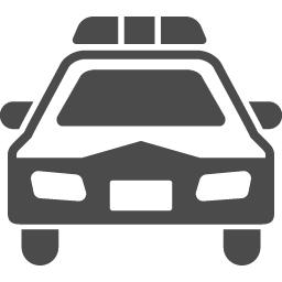 パトカーの無料アイコン5 アイコン素材ダウンロードサイト Icooon Mono 商用利用可能なアイコン素材が無料 フリー ダウンロードできるサイト