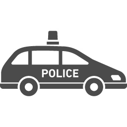 パトカーの無料アイコン7 アイコン素材ダウンロードサイト Icooon Mono 商用利用可能なアイコン 素材が無料 フリー ダウンロードできるサイト