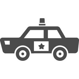 パトカーの無料アイコン9 アイコン素材ダウンロードサイト Icooon Mono 商用利用可能なアイコン素材が無料 フリー ダウンロードできるサイト