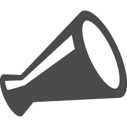 メガホンの無料アイコン1 アイコン素材ダウンロードサイト Icooon Mono 商用利用可能なアイコン素材が無料 フリー ダウンロードできるサイト