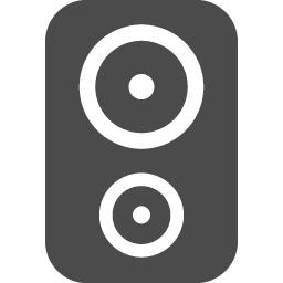 角丸のスピーカーアイコン アイコン素材ダウンロードサイト Icooon Mono 商用利用可能なアイコン 素材が無料 フリー ダウンロードできるサイト