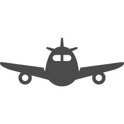 飛行機の正面アイコン アイコン素材ダウンロードサイト Icooon Mono 商用利用可能なアイコン素材が無料 フリー ダウンロードできるサイト