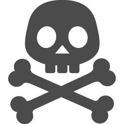 ドクロマークのアイコン アイコン素材ダウンロードサイト Icooon Mono 商用利用可能なアイコン素材が無料 フリー ダウンロードできるサイト