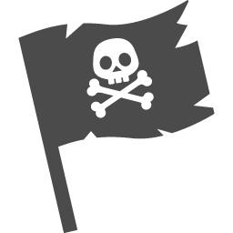 海賊旗のアイコン アイコン素材ダウンロードサイト Icooon Mono 商用利用可能なアイコン素材が無料 フリー ダウンロードできるサイト