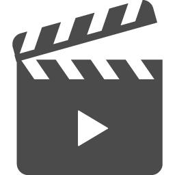 再生マーク付きのカチンコアイコン4 アイコン素材ダウンロードサイト Icooon Mono 商用利用可能なアイコン 素材が無料 フリー ダウンロードできるサイト
