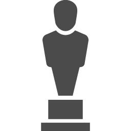 アカデミー賞風のトロフィーアイコン アイコン素材ダウンロードサイト Icooon Mono 商用利用可能なアイコン素材が無料 フリー ダウンロードできるサイト