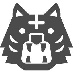虎のアイコン素材 アイコン素材ダウンロードサイト Icooon Mono 商用利用可能なアイコン素材が無料 フリー ダウンロードできるサイト