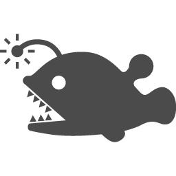 提灯アンコウのアイコン素材 アイコン素材ダウンロードサイト Icooon Mono 商用利用可能なアイコン素材が無料 フリー ダウンロードできるサイト