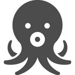タコのアイコン素材2 アイコン素材ダウンロードサイト Icooon Mono 商用利用可能なアイコン素材が無料 フリー ダウンロードできるサイト