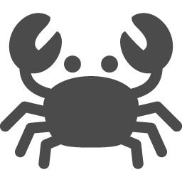 カニのアイコン素材 アイコン素材ダウンロードサイト Icooon Mono 商用利用可能なアイコン素材が無料 フリー ダウンロードできるサイト