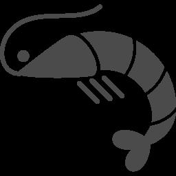 横向きのエビのアイコン素材 2 アイコン素材ダウンロードサイト Icooon Mono 商用利用可能なアイコン素材が無料 フリー ダウンロードできるサイト