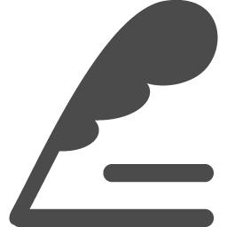 羽根のペンでのライトダウンアイコン アイコン素材ダウンロードサイト Icooon Mono 商用利用可能なアイコン素材が無料 フリー ダウンロードできるサイト