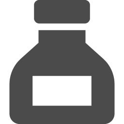 インクボトルのアイコン素材 アイコン素材ダウンロードサイト Icooon Mono 商用利用可能なアイコン素材 が無料 フリー ダウンロードできるサイト
