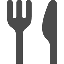 フォークとナイフのお食事アイコン素材 アイコン素材ダウンロードサイト Icooon Mono 商用利用可能なアイコン素材が無料 フリー ダウンロードできるサイト