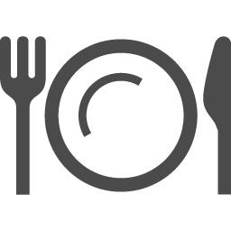 ナイフ お皿 フォークのお食事アイコン アイコン素材ダウンロードサイト Icooon Mono 商用利用可能なアイコン素材が無料 フリー ダウンロードできるサイト
