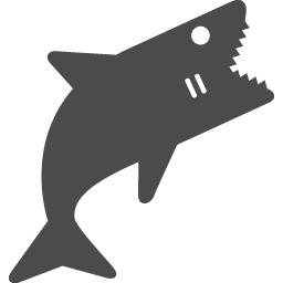 人食いザメ アイコン素材ダウンロードサイト Icooon Mono 商用利用可能なアイコン素材が無料 フリー ダウンロードできるサイト