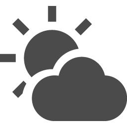天気晴れのち曇りのアイコン素材 アイコン素材ダウンロードサイト Icooon Mono 商用利用可能なアイコン素材が無料 フリー ダウンロードできるサイト