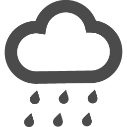 お天気 雨のフリーアイコン アイコン素材ダウンロードサイト Icooon Mono 商用利用可能なアイコン素材 が無料 フリー ダウンロードできるサイト