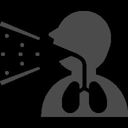 咳のアイコン アイコン素材ダウンロードサイト Icooon Mono 商用利用可能なアイコン素材が無料 フリー ダウンロードできるサイト